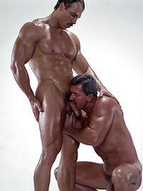 Lucky buddy getting his stiff hardon rubbed
